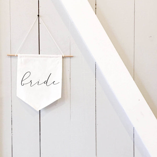 Bride & Groom Calligraphy Banners