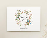 Watercolour Floral Wedding Thank You Card Printable Template