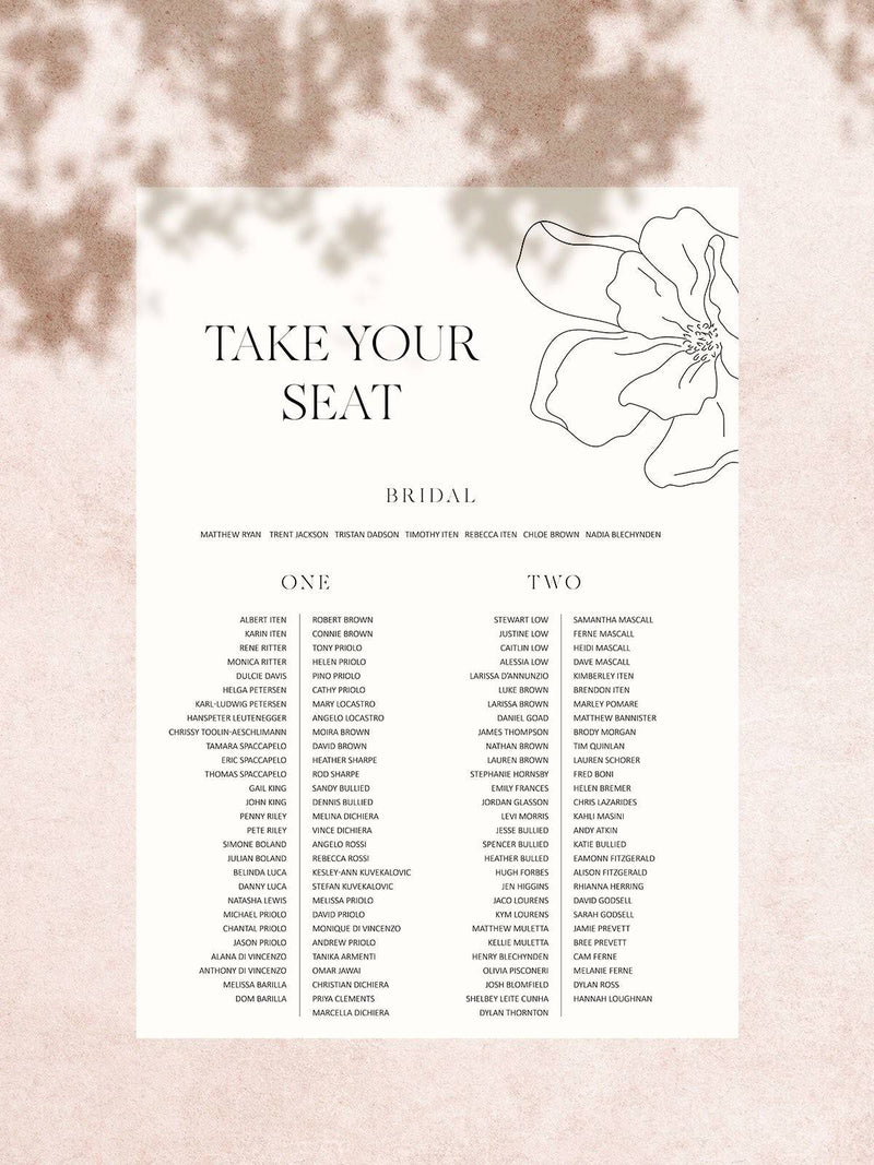 Magnolia Seating Chart