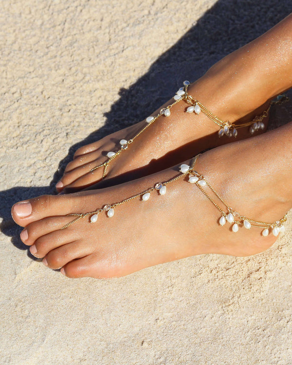 JOURNEY BAREFOOT SANDALS - GOLD