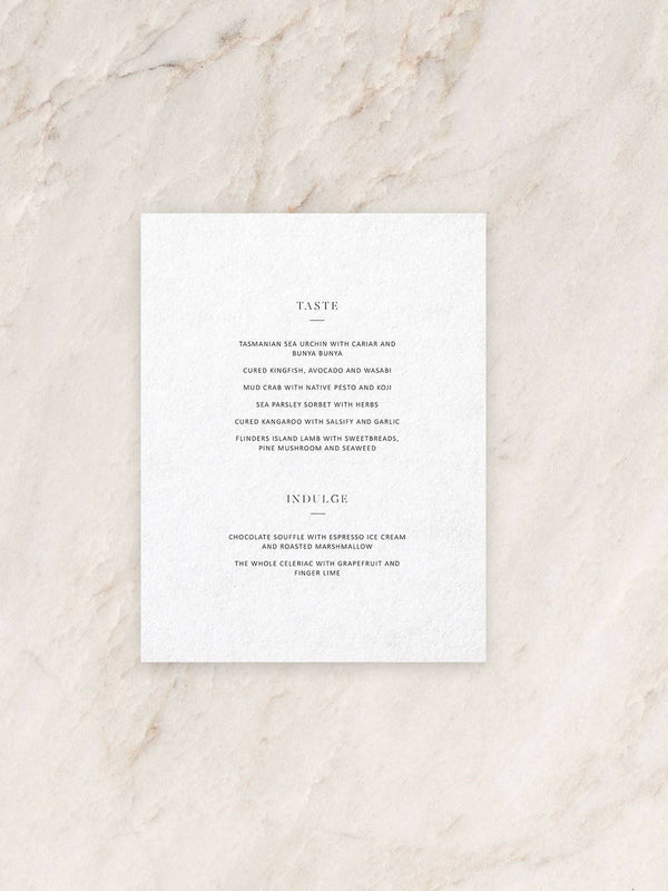 Magnolia Menu - Double Side