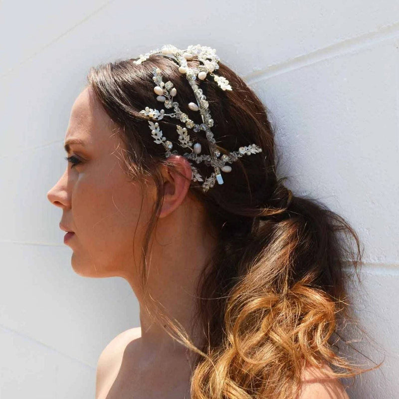 ZARA - BRIDAL PEARL HAIR ACCESSORY - SILVER