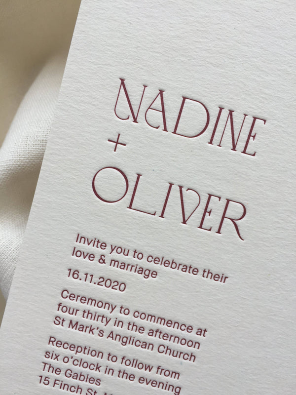 Ensemble Invitation - Letterpress