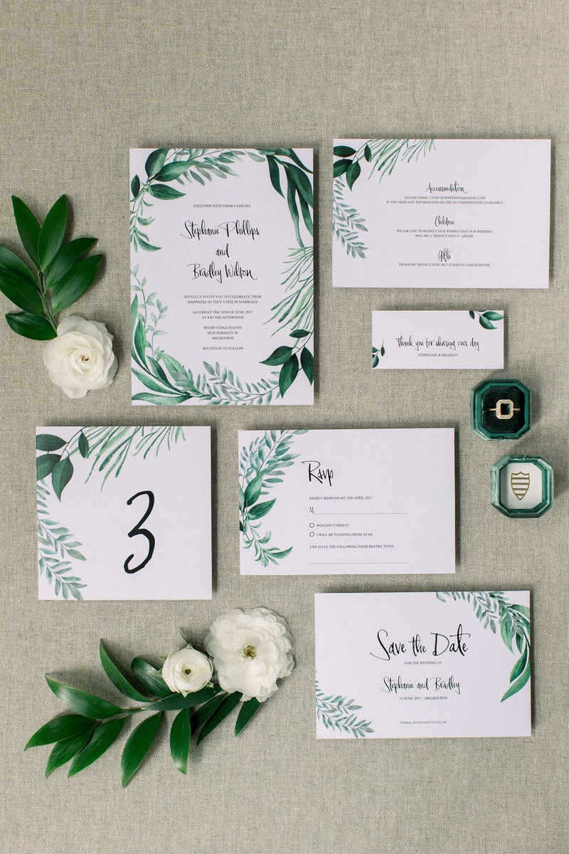 Greenery Wedding Save The Date Printable Template