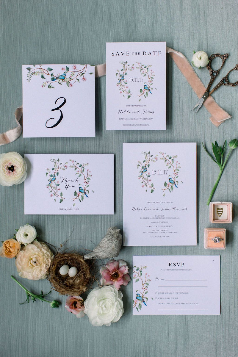 Botanical Wedding Details Card Printable Template