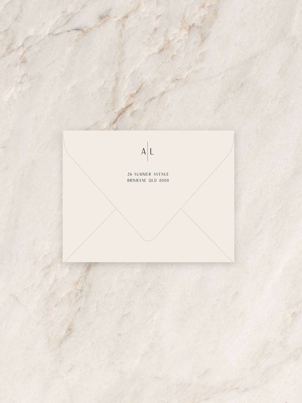 Avoca Save The Date/RSVP/Thank You Card Envelope