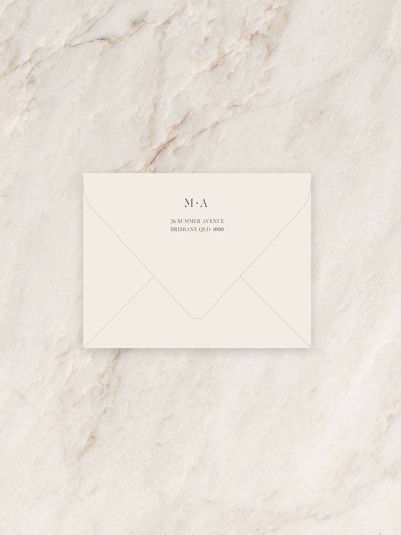 Milan Save The Date/RSVP/Thank You Card Envelope