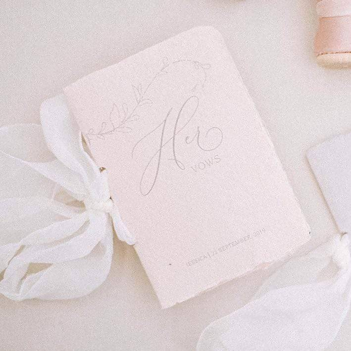 Custom Fine Art Vow Books