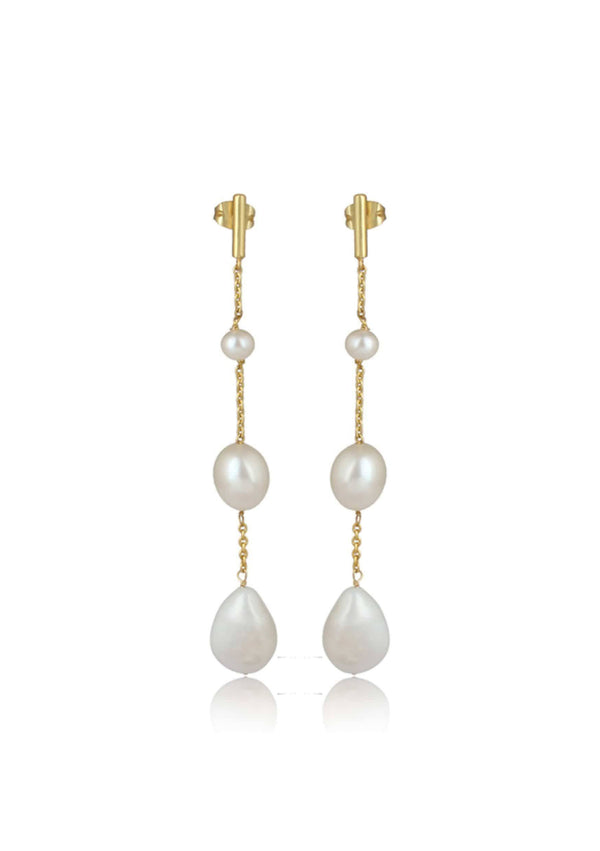 ALORA EARRINGS - MINIMAL BRIDAL EARRINGS - GOLD