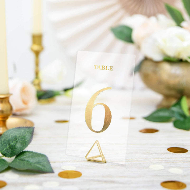 Gold Table Numbers | 20pk