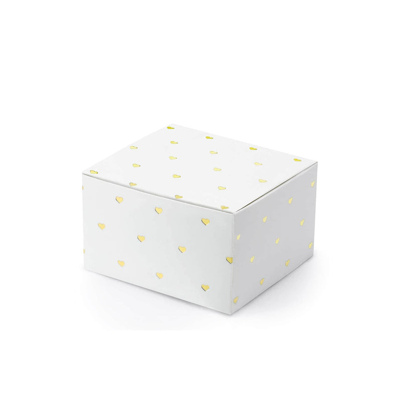 Gold Hearts Favour Box | 10Pk