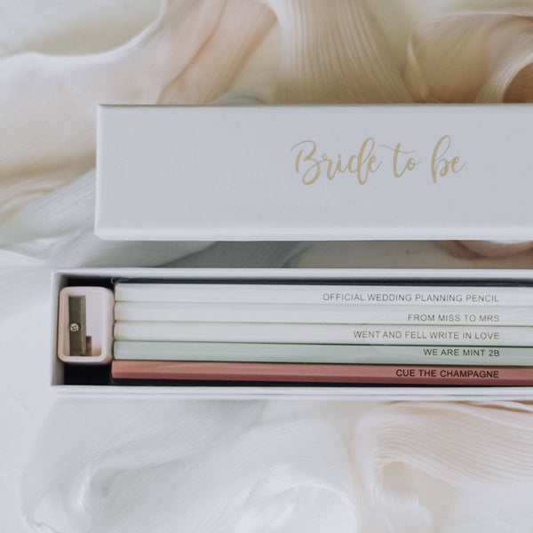 'Bride-to-Be' Pencil Set