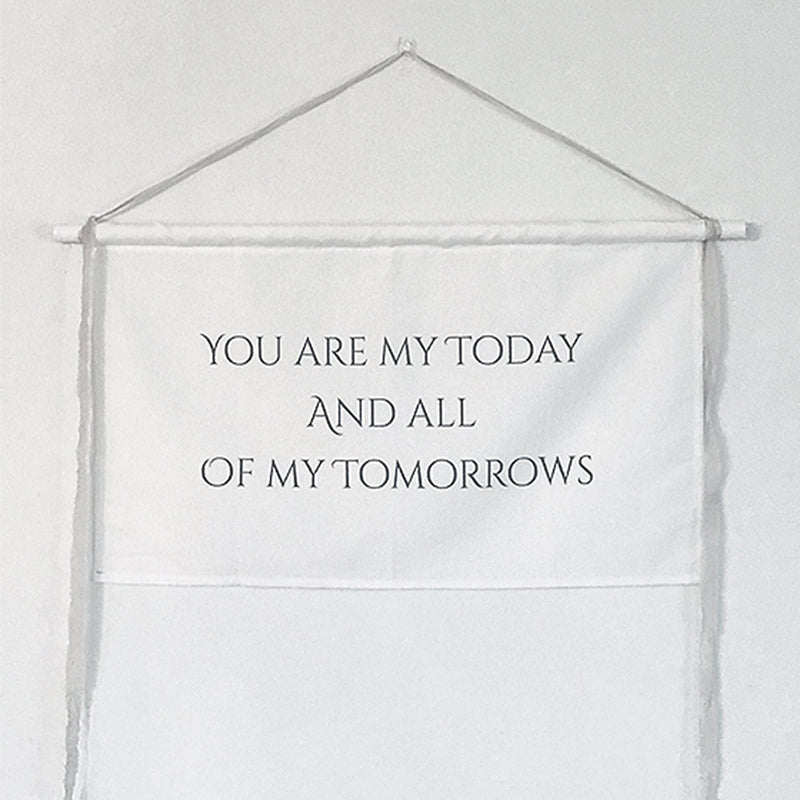Wedding Sign 'Today & Tomorrow' Backdrop/Banner