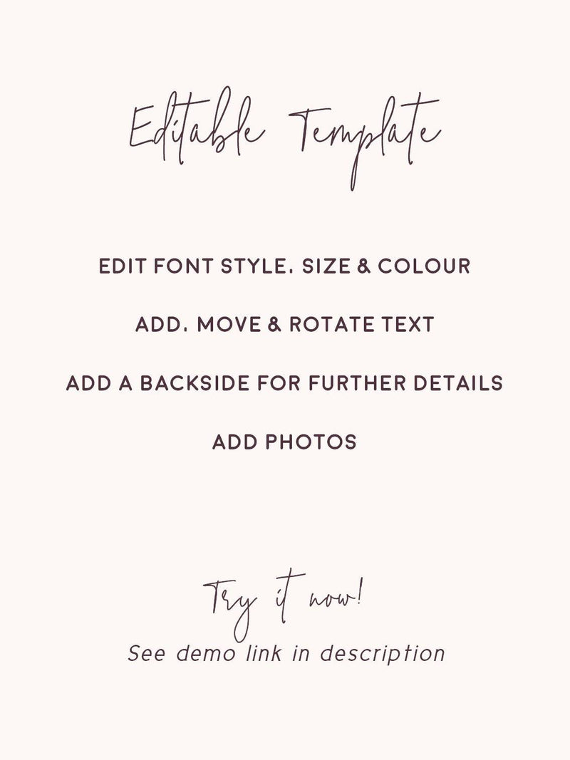 Polaroid Photo Save the Date Printable Template