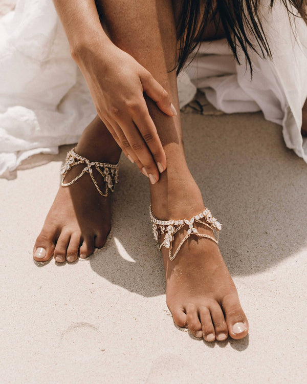 REFLECTION ANKLETS - GOLD