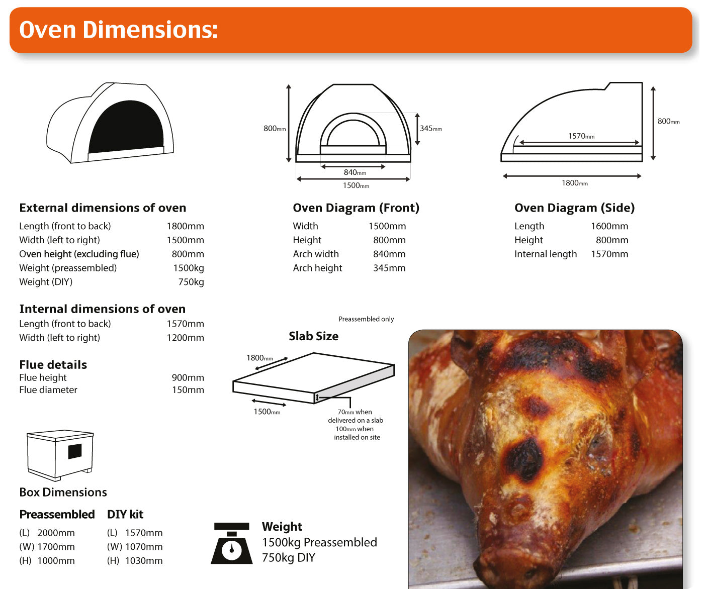 The Don Café Commercial Oven Dimensions