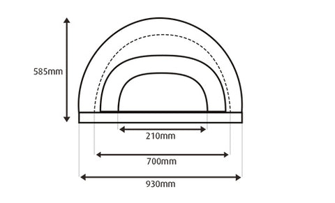 external dimensions of the oven