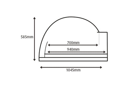 internal dimensions of the oven