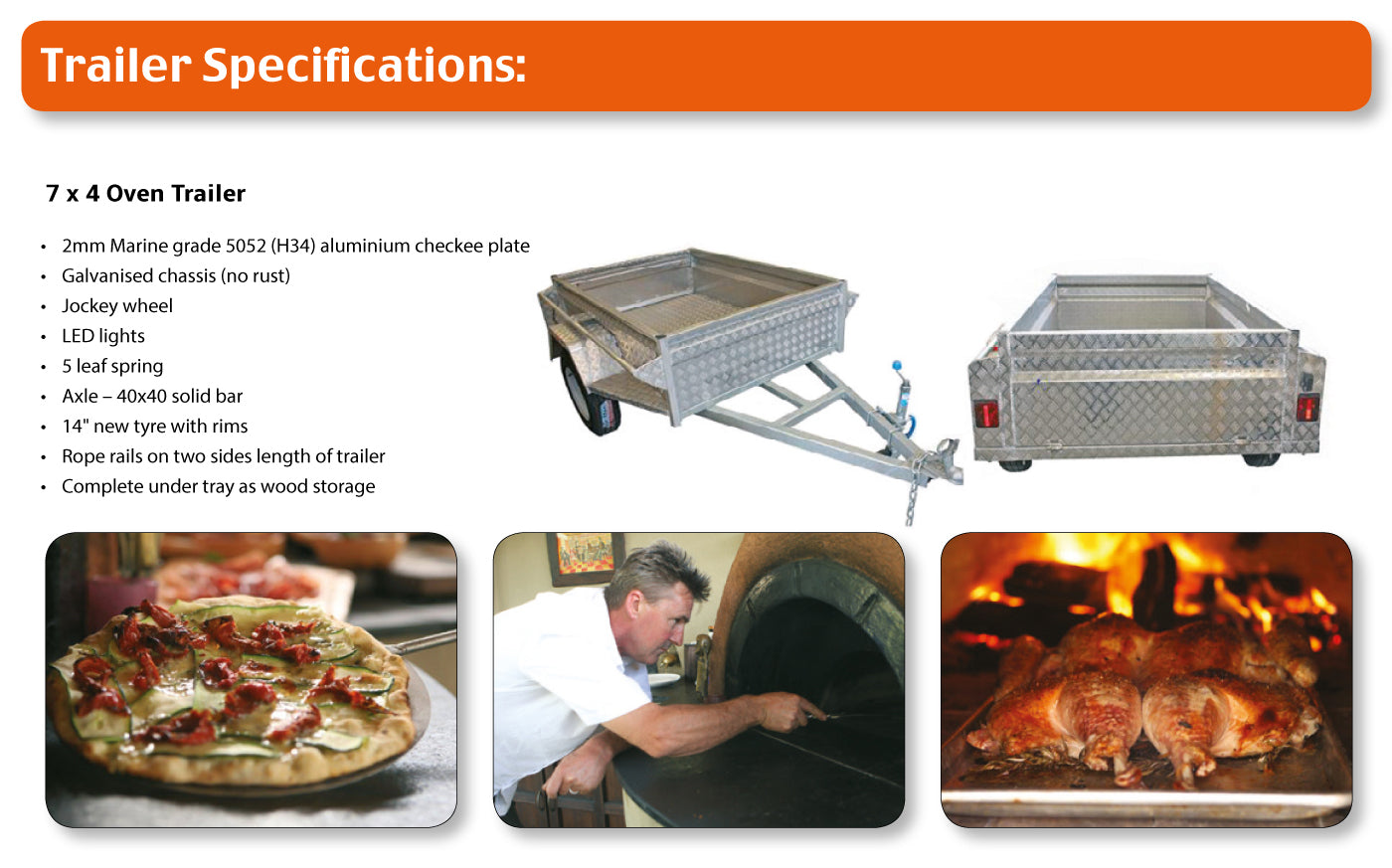 Trailer Pizza Oven: Trailer Specifications