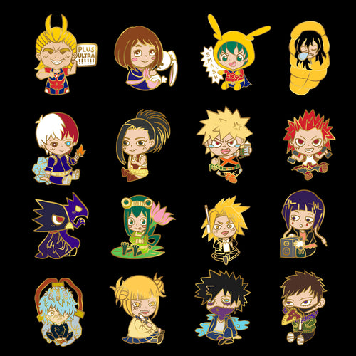 HERO SCHOOL B-GRADE PIN GASHAPON