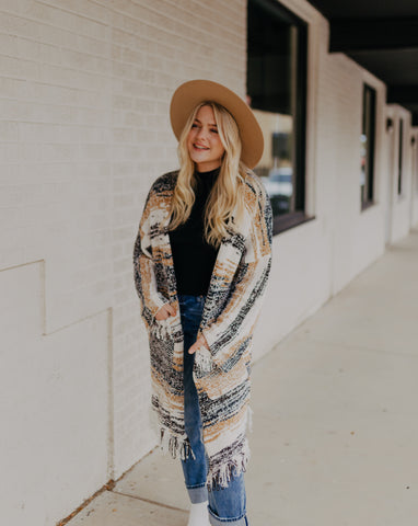 Distressed Chenille Cardigan