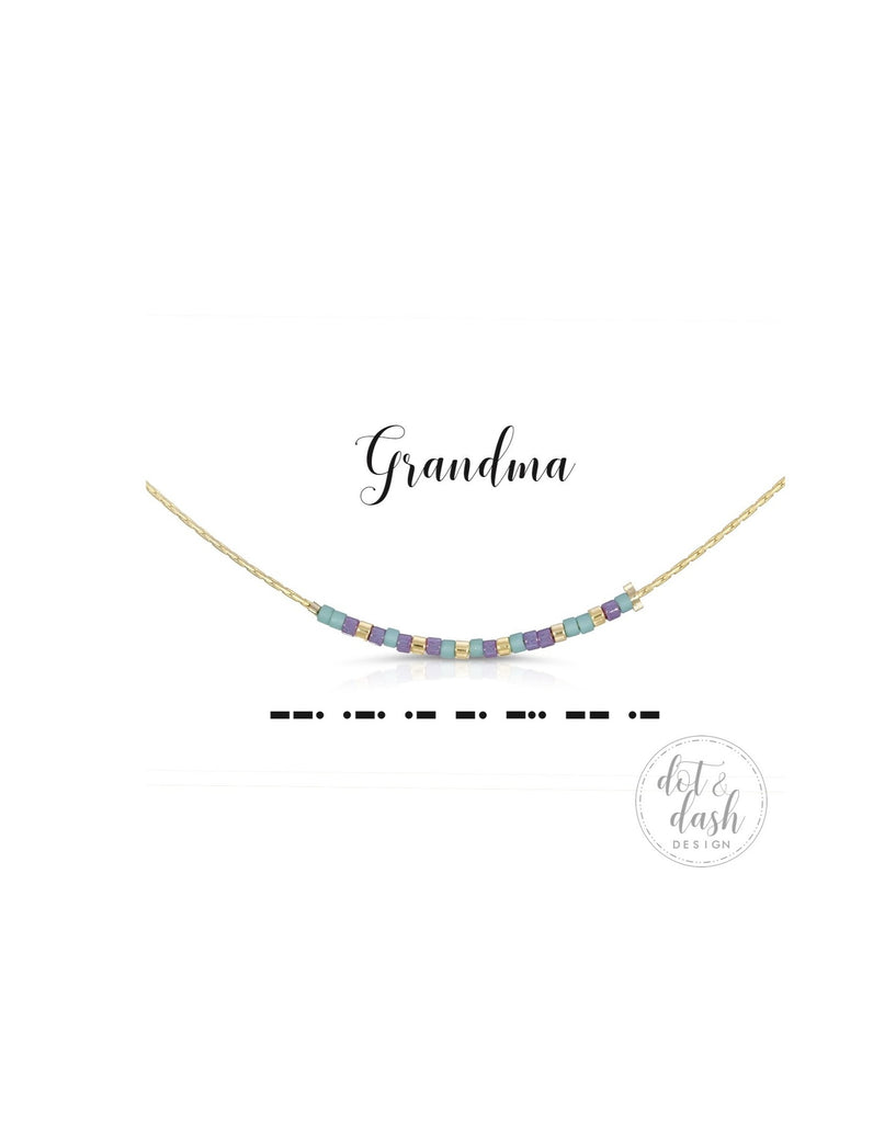 Dot & Dash: Grandma Morse Code Jewelry