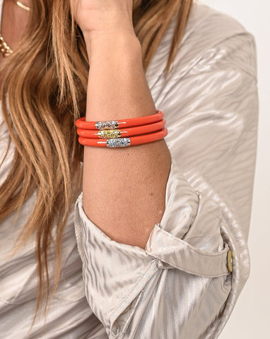 BuDhaGirl: Coral 3 Kings All Weather Bangles