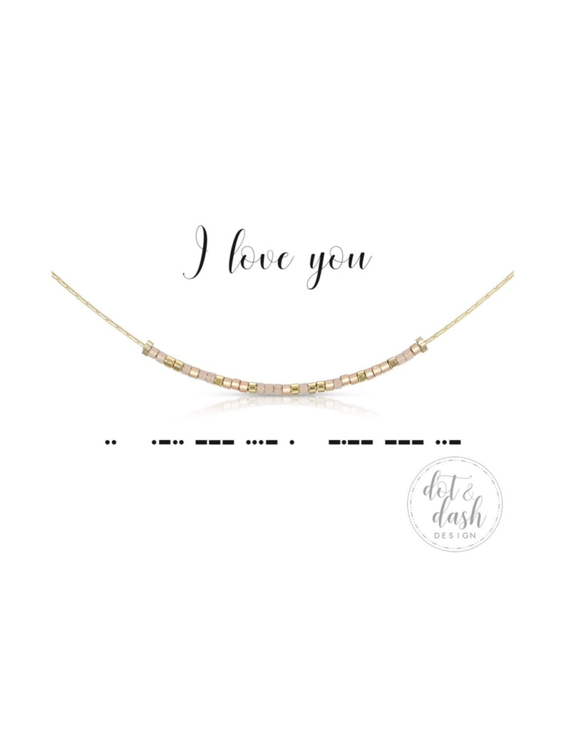 Dot & Dash: I Love You Morse Code Jewelry