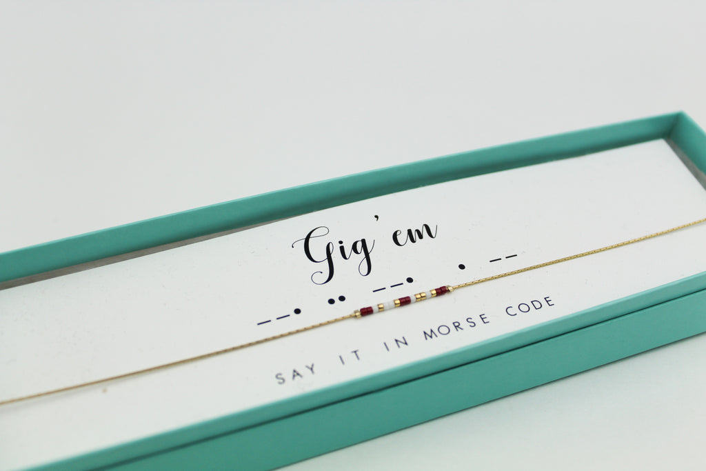 Dot & Dash: A&M Aggies Morse Code Jewelry