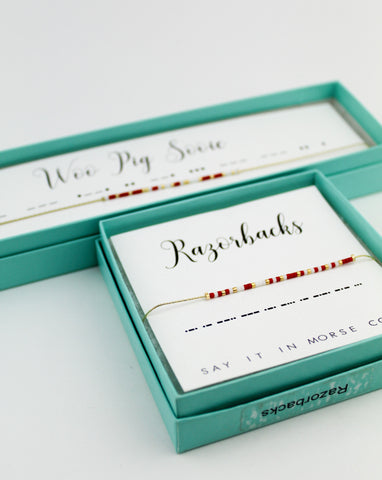 Dot & Dash: University of Arkansas Morse Code Jewelry