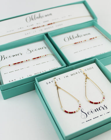 Dot & Dash: University of Oklahoma Morse Code Jewelry