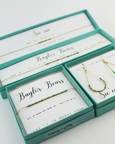 Dot & Dash: Baylor University Morse Code Jewelry