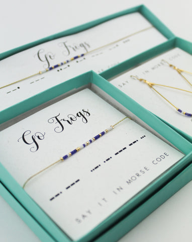 Dot & Dash: Texas Christian University Morse Code Jewelry