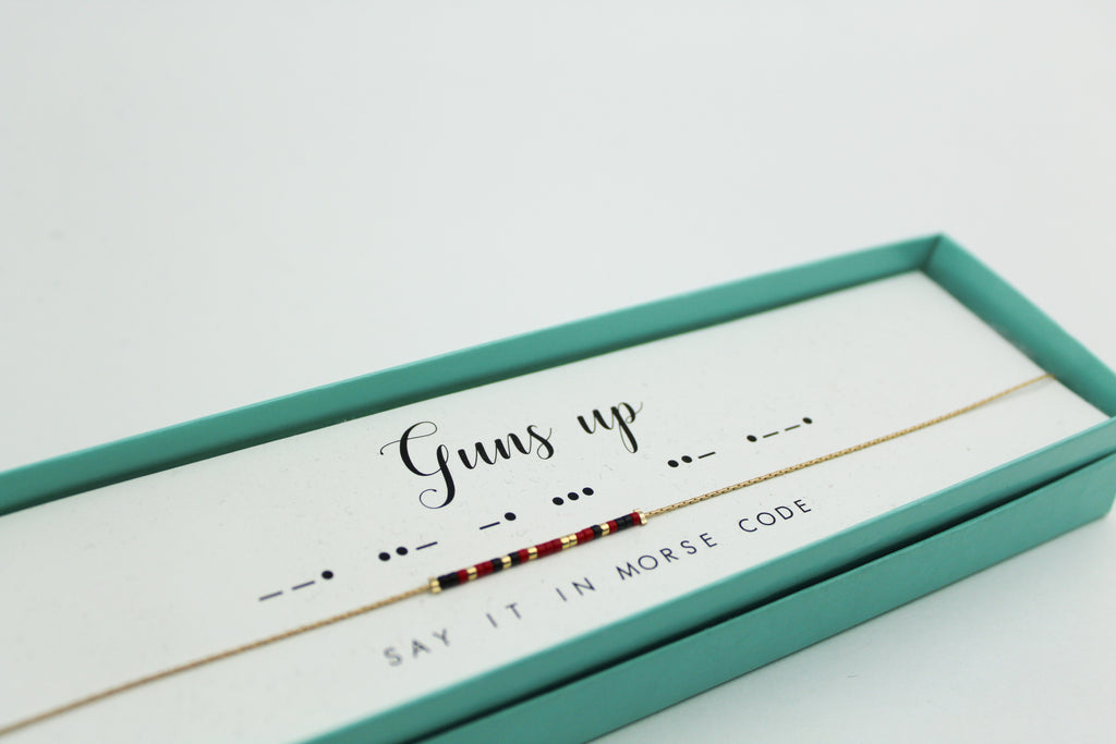 Dot & Dash: Texas Tech Morse Code Jewelry
