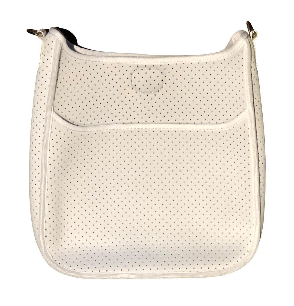 Perforated Neoprene Messenger Bag (strap NOT included) WHITE