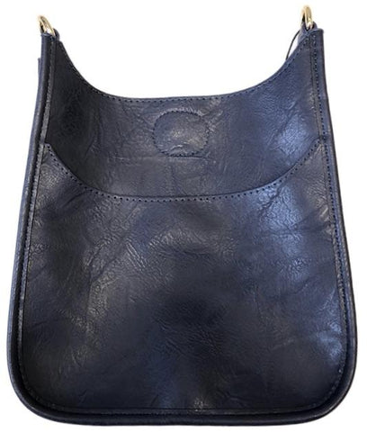 Mini Soft Vegan Leather Messenger Bag (strap NOT included) NAVY