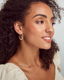 Kendra Scott: Josie Hoops In Rose Gold