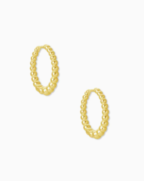 Kendra Scott: Josie Huggies In Gold