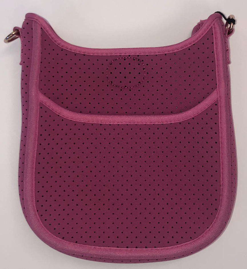 Mini Perforated Neoprene Messenger Bag (strap NOT included) PINK