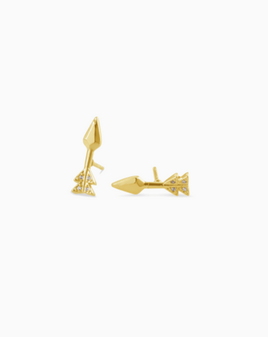 Kendra Scott: Zoey Stud Earrings In Gold