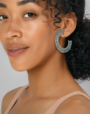 Kendra Scott: Evie Gold Hoop Earrings In Turquoise