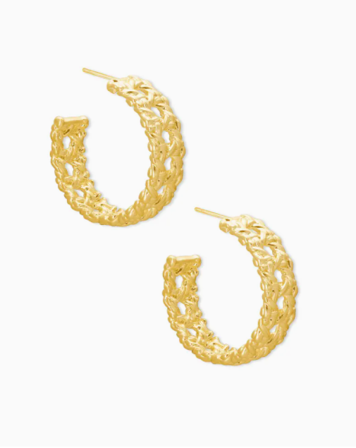 Kendra Scott: Natalie Gold Hoop Earrings In Gold