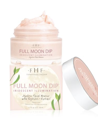 Farmhouse Fresh Full Moon Dip Iridescent Illumination Ageless Facial Mousse with Peptides &  Retinol