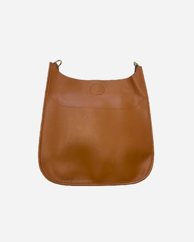 Soft Vegan Leather Messenger Bag (strap NOT included) CAMEL