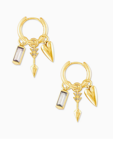 Kendra Scott: Zoey Interchangeable Huggie Earrings Set In Gold