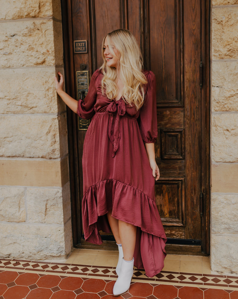 High-Low Mauve Dress