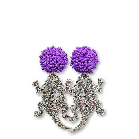 TCU Party Frog Acrylic Earring