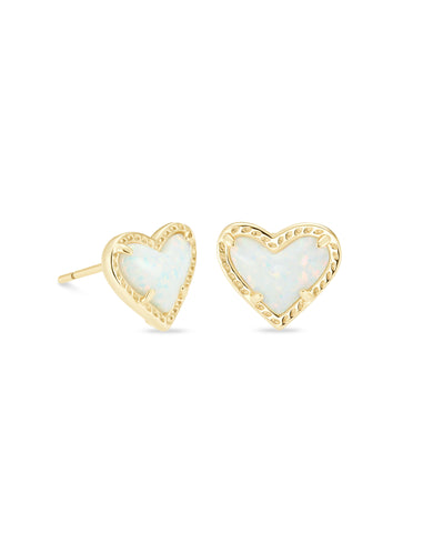 Kendra Scott: Ari Heart Stud Gold/White Opal
