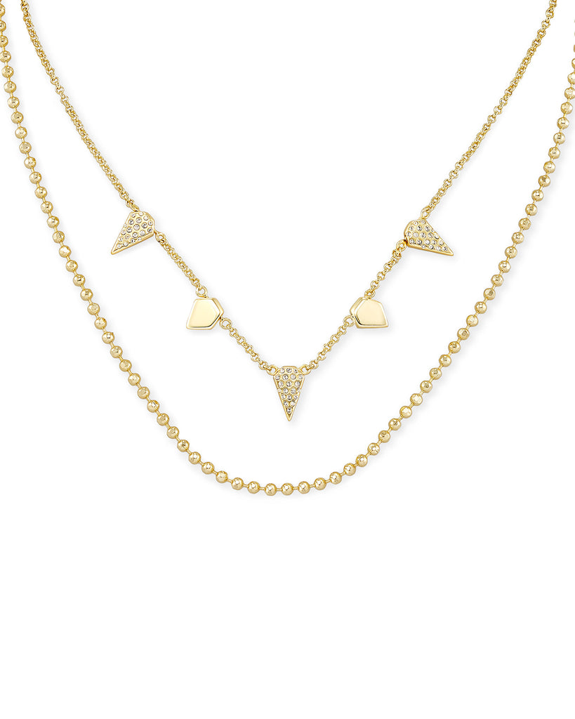 Kendra Scott: Demi Multi Strand Necklace in Gold