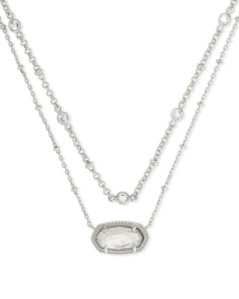 Kendra Scott: Elisa Multi Strand Necklace in Rhodium/Gray Illusion